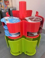 TASSIMO Koziol Carrousel T Disque Pod Support - Détient 40 Rouge & Vert Gift