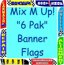 AUTO REPAIR BUNDLE SPECIAL 6 FLUTTER FLAGS + 6 POLE KITS Feather Swooper Banner