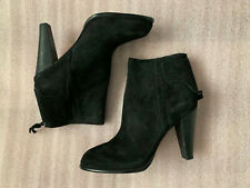 French Connection CAMEO Black Suede Leather Pointed Toe Booties Sz 42 US 11