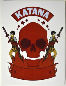 DC BOMBSHELLS Print - KATANA Skull Logo Ant Lucia art