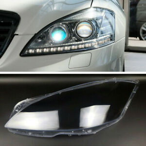 Left Headlights Kit Lens Lamp Cover For Mercedes-Benz S-Class W221  2010-2013