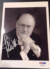 JOHN WILLIAMS STAR WARS SIGNED AUTOGRAPH  PHOTO PSA/DNA COA Composer