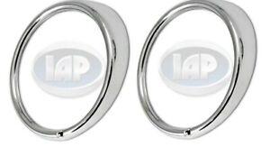 1967-1979 VW Chrome Headlight Trim Rings SET OF 2 (PAIR) Left & Right 311941177