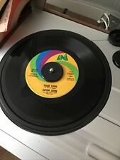 "Elton John 45 ""Your Song/Take Me To The Pilot� 1971 Pop Rock Vinyl 7�"