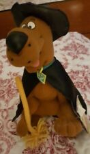 """Scooby Doo Plush 9"""" Dog Applause Witch Hat Broom Blockbuster Exclusive Where R U"""