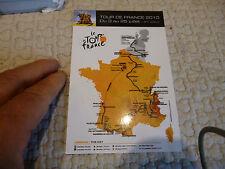 Carte du Tour de France 2010 ( Cyclisme Vélo )