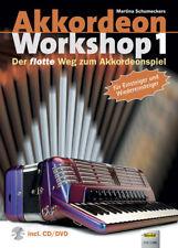 Akkordeon Workshop 1 , incl.  Audiobeispiele  auf CD, accordion sheet music book