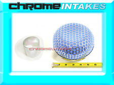 """BLUE UNIVERSAL 3"""" MUSHROOM AIR FILTER FOR MERCURY/LINCOLN/LAND ROVER INTAKE+PIPE"""