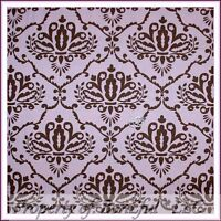 BonEful FABRIC FQ Cotton Quilt VTG Baby Girl Pink Brown Flower Damask Toile Sale