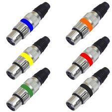 XLR KUPPLUNGEN 3-pol in den Farben Ihrer Wahl Buchse Neutrik kompatibel Kupplung