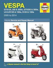 Vespa GTS125 150 250 GTV250 LX125 250 S125 250 05-18 Haynes Repair Manual 4898