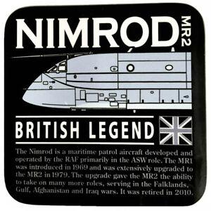 Hawker Siddeley Nimrod Royal Air Force Maritime Patrol Aircraft Black Coaster.
