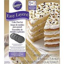 Wilton 70869 Easy Layer 20cm Round Cake Pan Set