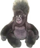 "Disney Store Tarzan TERK Gray Gorilla Ape Plush 9"" Beanbag Movie Collectible Toy"