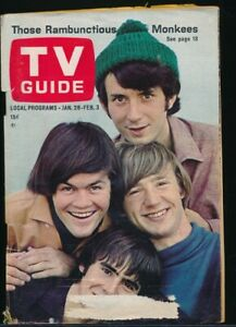 The MONKEES Cover of TV GUIDE Jan. 28-Feb. 3, 1967 Detroit Edition