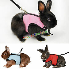 Hamster Rabbit Squirrel Mesh Harness Leash Small Pet Vest Suit Outdoor Jogging