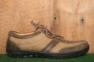 NIBI Brown Leather Oxfords Fashion Sneakers EUR 43   US Men's 10 - Retail $245