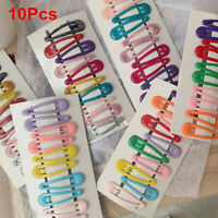 Girls Barrettes Clips Candy Color Hairpins Snap Hair Clip Fashion 10Pcs/Set