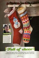 KNITTING PATTERN 2 Christmas Stocking Snowman + Fair Isle Candy Cane Wendy DK