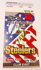 2002 AFC Championship New England Patriots Pittsburgh Tom Brady NFL Ticket Stub