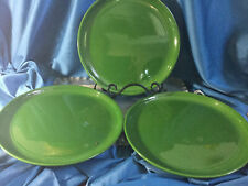 "Lot Of 3 ~ THOMAS OBRIEN VERANDA DINNER PLATE  10.75""  ~ forest Green ~ EC"