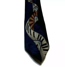Vintate Musical Necktie PIANO KEYS Contemporary Blue Black Gold Maroon Tie Silk