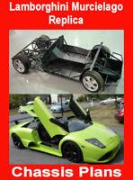 Lamborghini Murcielago replica kit car CHASSIS plans  - blueprints (download)