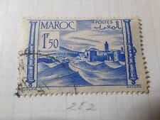 MAROC 1947-49, timbre 252, FORTERESSE, oblitéré, FRENCH COLONIES STAMP