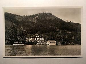 Alte AK von Bodman am Bodensee, Sommerhaus Linde mit Seebad, gelaufen 1935