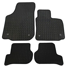 For Seat Leon MK2 2009-2012 Fully Tailored 4 Piece Rubber Car Mat Set 4 Clips