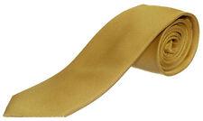 Seidenkrawatte uni  gelb 100% Seide Krawatte  Monti Herren einfarbig