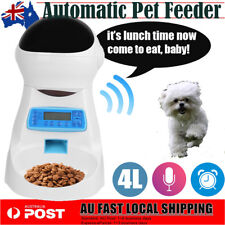 4L Automatic Program Auto Cat Dog Feeder Food Bowl Dispenser Recording Remind