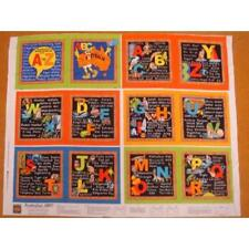 ABC Australian Animal Childrens Book Cotton Quilting Fabric Panel