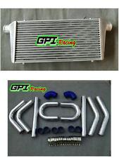 "Universal 450x300x75mm intercooler + 76mm 3"" aluminium piping +Silicone HOSE kit"