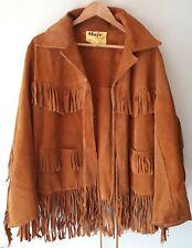 Mojo Sydney vintage suede tassel western jacket size 40