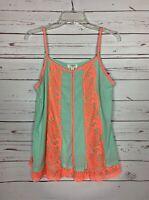 Umgee USA Boutique Women's M Medium Mint Lace Sleeveless Spring Summer Top Tank