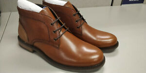 Mens Cognac Colored Leather Ankle Boots Size 9 Chukka