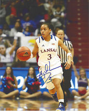 Angel Goodrich Signed 8x10 Photo Seattle Storm Wnba Kansas Basketball Free Ship