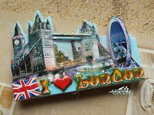 United Kingdom London Eye Tower Bridge Travel Souvenir Resin Fridge Magnet