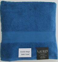 "Ralph Lauren Greenwich~BLUE STONE~Individual Bath Towels~30""x56"" 100% Cotton"