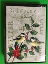 New Christmas 18/pk Finches Birds Holly Peace Cards boxed dec env/inside Seasons