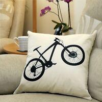 Cool Retro Cycling Mountain Bike MTB Design Throw Pillow Cushion Cover 45x45cm