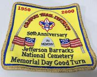 VTG BSA Boy Scouts St. Louis Area 2000 50th Anniversary Patch Arch Gravois