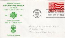 Girl Scouts 1962 FDC Sc 1199:  Troop 63 Fort Payne, AL  Levy 62FD-73  #K020