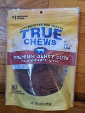 New listing True Chews Premium Jerky Cuts Made with Real Steak 10 oz Brown, Exp 11/20