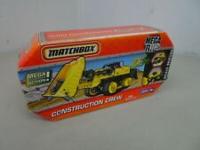 MATCHBOX MEGA RIG BUILDING SYSTEM CONSTRUCTION CREW - distressed packaging