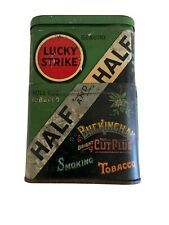 Vintage Lucky Strike & Buckingham Bright CutPlug Tobacco HALF and  HALF Tin