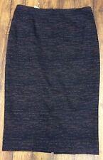 Preloved - Hobbs Brown & Black Wool Mix Pencil Skirt - Sz 8