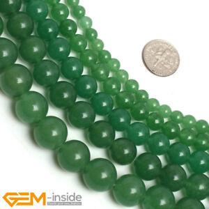 "Round Gemstone Green Aventurine Loose DIY Beads For Jewellery Making Strand 15"""