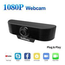 1080P Webcam HD Web Kamera USB für Laptop PC Notebook Skype mit Mikrofon DE